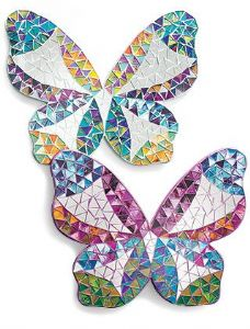 Mirror~ Assorted Rainbow Colour Hippy Bohemian Decorative Mosaic Butterfly Mirror~ By Folio Gothic Hippy MC32